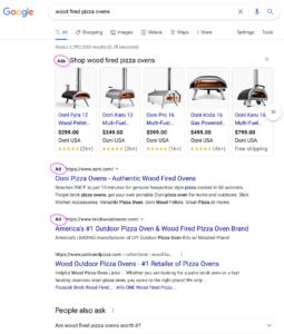 Google Ads SERP example