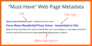 Web page metadata for SEO