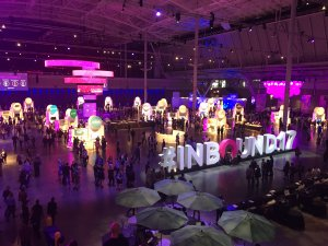 crowds gather at HubSpot's Inbound 2017 conference
