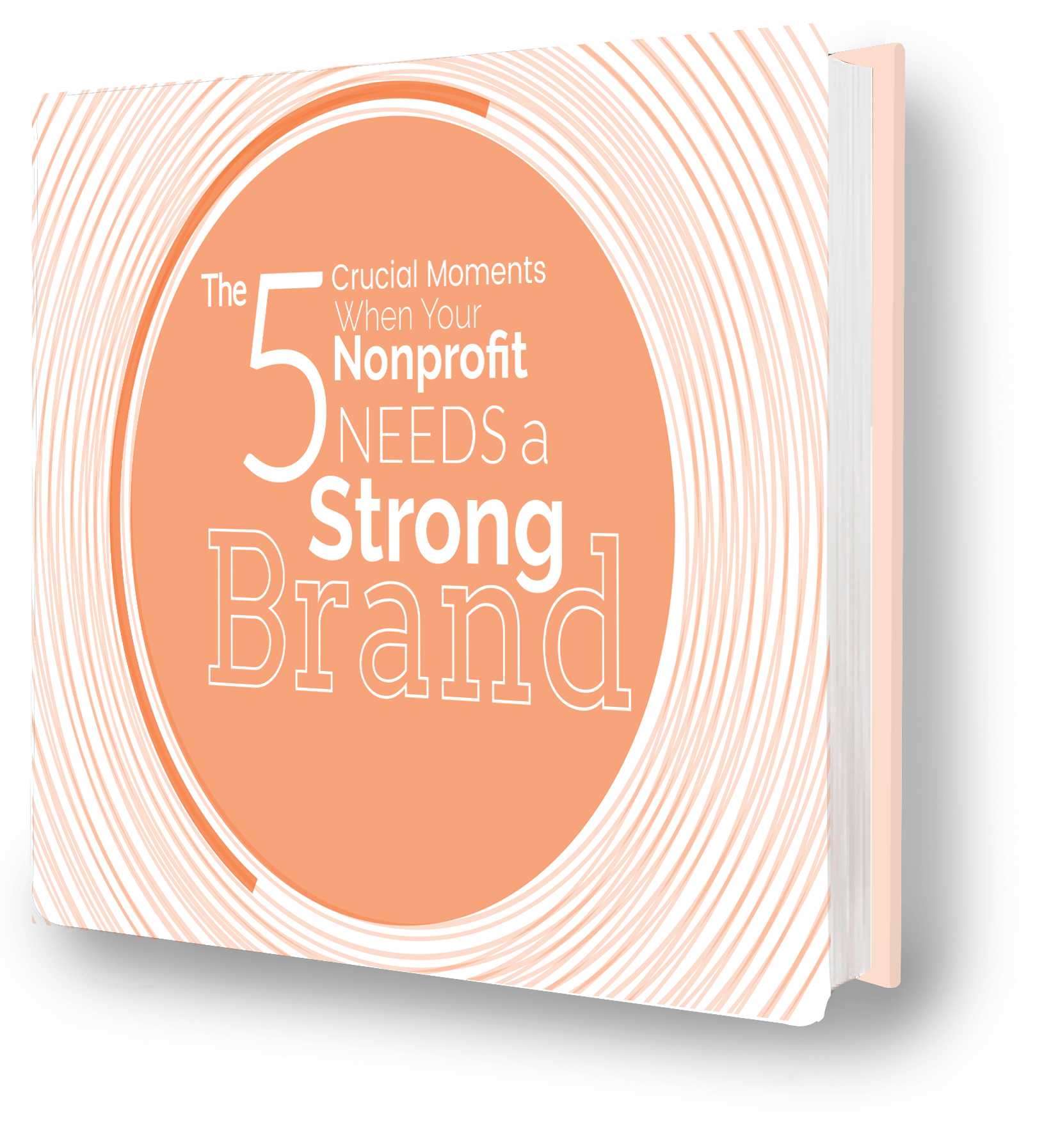 the cover of the 5 Crucial Moments When Your Nonprofit Needs a Strong Brand eBook