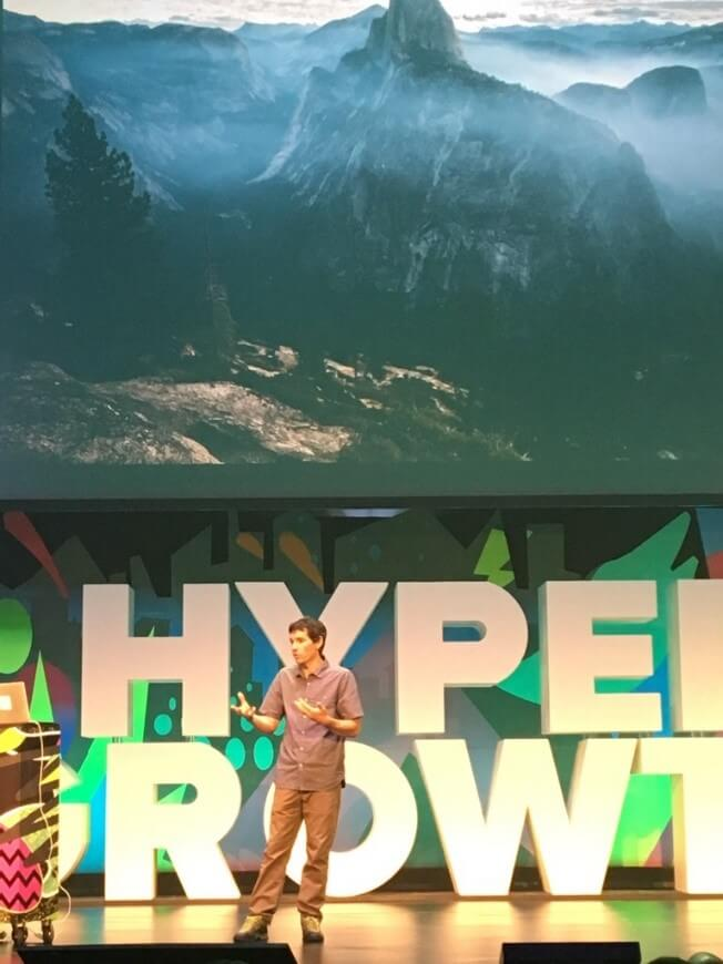 Alex Honnold at HyperGrowth