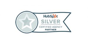 hubspot silver certified agency partner badge